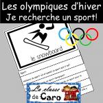 Recherche -sport olympique d'hiver! Livre à rabats
