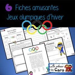 6 activités - jeux olympiques d'hiver