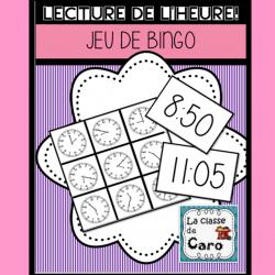 BINGO - LECTURE DE L'HEURE PAR 5 MINUTES