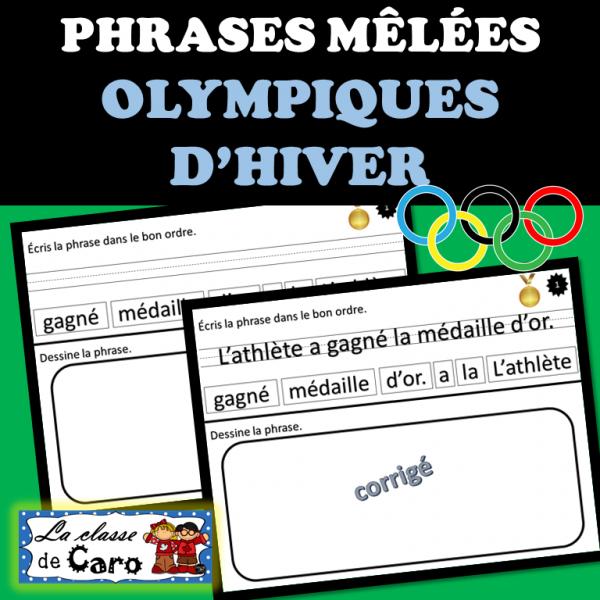 PHRASES MÊLÉES - OLYMPIQUES D'HIVER