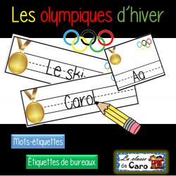 Étiquettes - Les jeux olympiques d'hiver