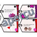 Trouve le verbe - Cartes à tâche - St-Valentin