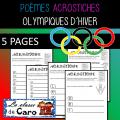 POÈME ACROSTICHE - OLYMPIQUES D'HIVER