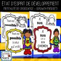 COLORIAGE- ÉTAT D'ESPRIT DE DÉVELOPPEMENT