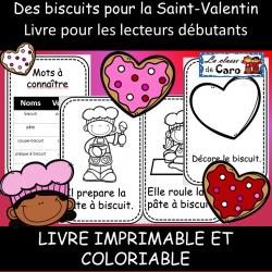 Livre pour lecteur débutant - St-Valentin