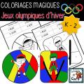 COLORIAGES MAGIQUES - OLYMPIQUES D'HIVER