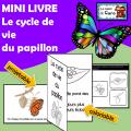 MINI LIVRE - Le cycle de vie du papillon