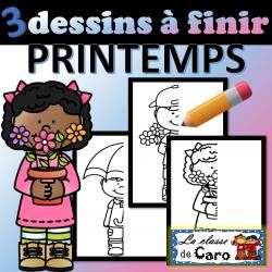 3 dessins à finir - PRINTEMPS #1