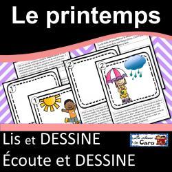 Lis et dessine - Écoute et dessine - LE PRINTEMPS