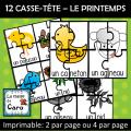 12 Casse-têtes - LE PRINTEMPS