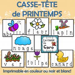 14 CASSE-TÊTE IMPRIMABLE - LE PRINTEMPS
