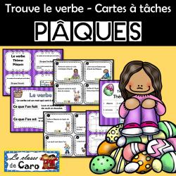 Trouve le verbe - PÂQUES - CARTES À TÂCHES