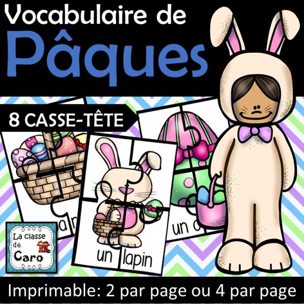 8 casse-tête - Vocabulaire de Pâques