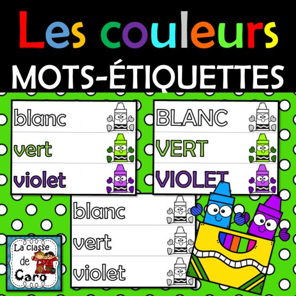 Mots-étiquettes - LES COULEURS - Affichage