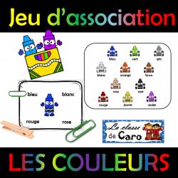 Jeu Du0027association   LES COULEURS