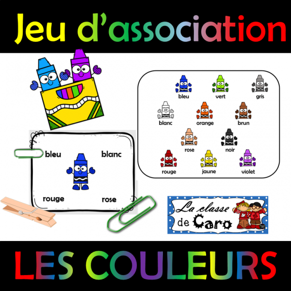 Jeu d'association - LES COULEURS