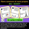 Noms communs et noms propres - Cartes à tâches