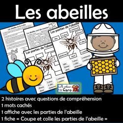 Les abeilles - Compréhension de la lecture, etc.