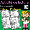Activité de lecture - Thème – Printemps