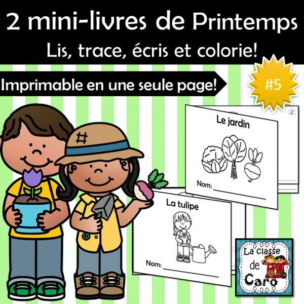 2 mini-livres - Thème PRINTEMPS #5