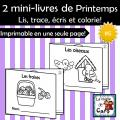 2 mini-livres - Thème PRINTEMPS #6