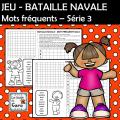 JEU - BATAILLE NAVALE - Mots fréquents Série 3