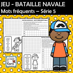 JEU - BATAILLE NAVALE Mots fréquents Série 5