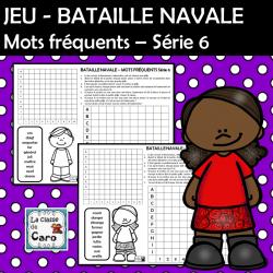 JEU - BATAILLE NAVALE Mots fréquents Série 6