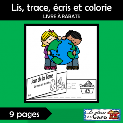 Lis, trace, écrit et colorie - JOUR DE LA TERRE