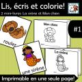 2 petits livres Lis, écris et colorie -  #1