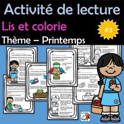 Lis et colorie - Printemps #2 - 4 fiches