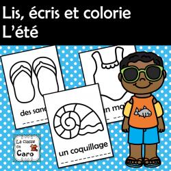 Lis, écris et colorie - L'été