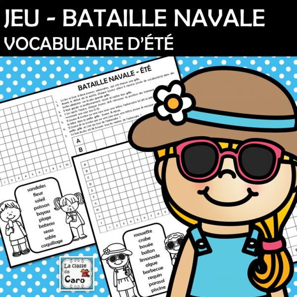 Jeu - Bataille navale - Vocabulaire d'été
