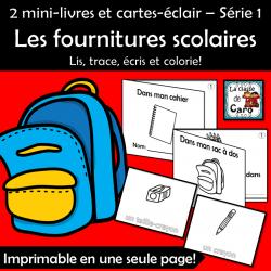 Petits livres - Lis, trace, écris et colorie École