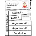 Écrire un texte d'opinion: Thème: L'école