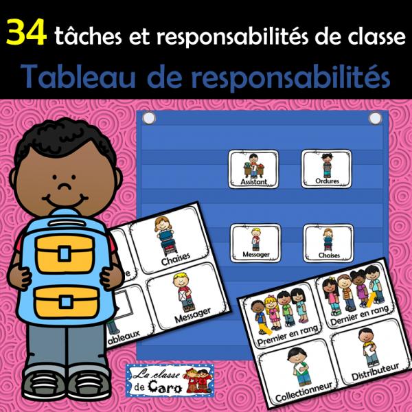 Responsabilités et tâches de classe