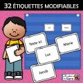 32 ÉTIQUETTES MODIFIABLES