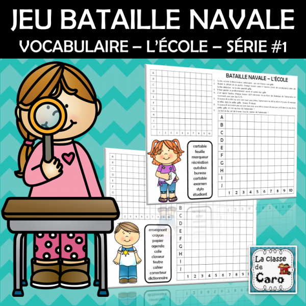 JEU - BATAILLE NAVALE - L'ÉCOLE - Série 1