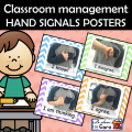 Classroom management HAND SIGNALS POSTERS