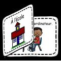 Livre pour les lecteurs débutants - À l'école