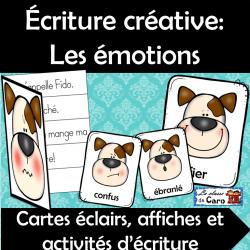 Écriture créative - cartes éclairs: Les émotions