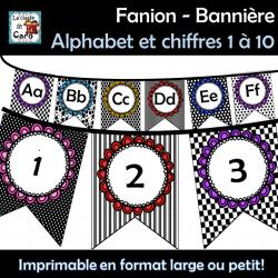 Fanion - Bannière Alphabet et chiffres 1 à 10