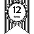 Fanion (bannière) des nombres + nombres en lettres