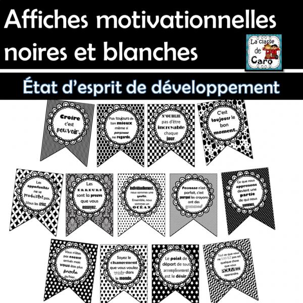 État d'esprit de développement - Affiches