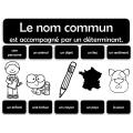 15 affichages de grammaire (noir et blanc)