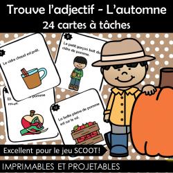 Trouve l'adjectif - L'automne - 24 cartes à tâches