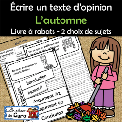 Écrire un texte d'opinion  - L'automne - Série 1