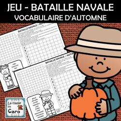 JEU - BATAILLE NAVALE VOCABULAIRE D'AUTOMNE