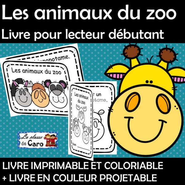 Lecteur débutant - Les animaux du zoo