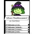 Vive l'halloween!  LIVRE À RABATS